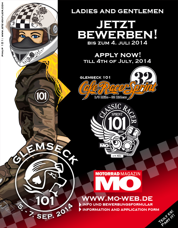 Glemseck 101 - Sprints 2014 - Bewerbung / Application - Poster