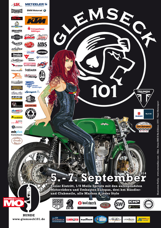 Glemseck 101 - 2014 - Sponsor-Poster - Illustration by Steven Flier