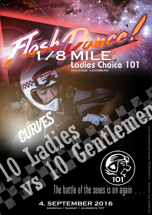Glemseck 101 - 2016 - Web-Poster - Flashdance Sprint - The Curves Berlin