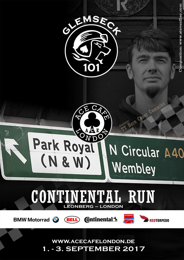 Glemseck 101 - Ace Cafe London - Continental Run - Poster